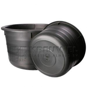 Pvc Kuip 85 Liter Zwart (Speciekuip)